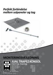 Monteringsvejledning jUAl trApez konsol - f.building-supply.dk