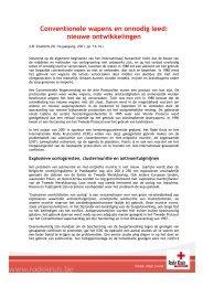Conventionele wapens en onnodig leed - Rode Kruis-Vlaanderen
