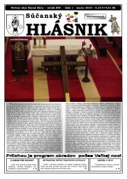 Súčanský hlásnik 2010 číslo 1 (pdf) - Horná Súča