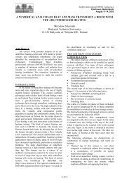 A NUMERICAL ANALYSIS OF HEAT AND MASS ... - ibpsa