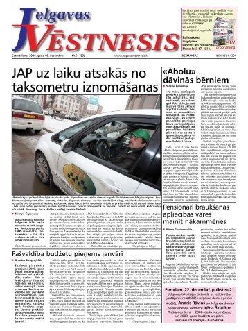 2008. gada 18.decembris. Nr.51(83) - Jelgavas Vēstnesis
