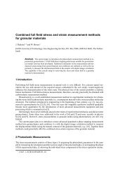 Combined full field stress and strain ... - Geo-Engineering