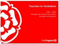 Tourism in Yorkshire - VisitEngland