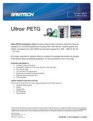 Ultros® PETG - Spartech Corporation