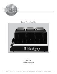 MC275 Owner's Manual Stereo Power Amplifier