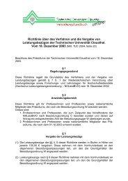 Richtlinie über das Verfahren und die Vergabe von ... - Academics.de