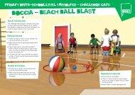 Boccia challenge card - School Games