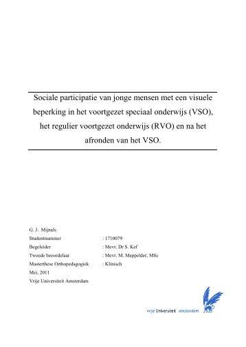 VSO - Vrije Universiteit Amsterdam