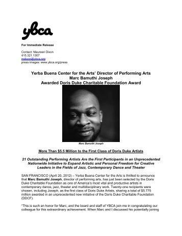 Director of Performing Arts Marc Bamuthi Joseph Awarded Doris ...