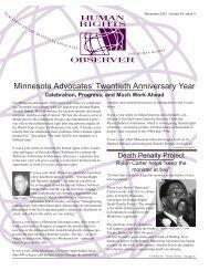 Minnesota Advocates' Twentieth Anniversary Year - The Advocates ...