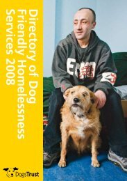 directory of dog-friendly homelessness services - Dogs Trust