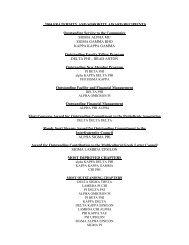 2004 FRATERNITY AND SORORITY AWARD RECIPIENTS ...