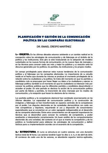 planificación y gestión de la comunicación política en las campañas ...