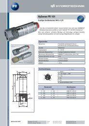 HySense PR 101 - Hydrotechnik
