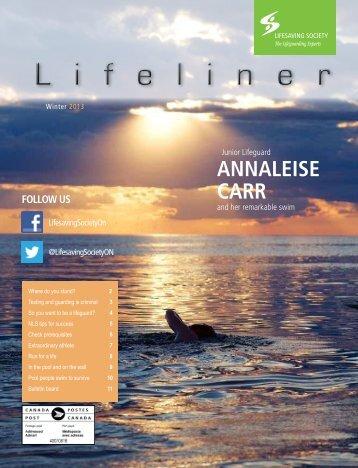 ANNALEISE CARR - Lifesaving Society