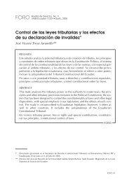 Control de las leyes tributarias y los efectos de su declaración de ...