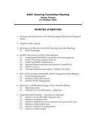 Meeting of KASC steering committee - Aarhus Universitet