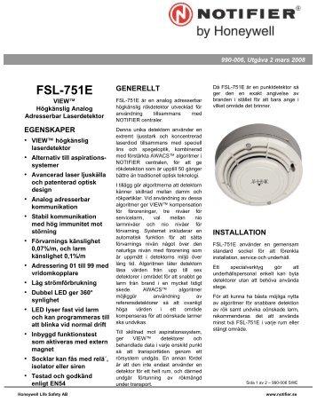 FSL-751E - Notifier