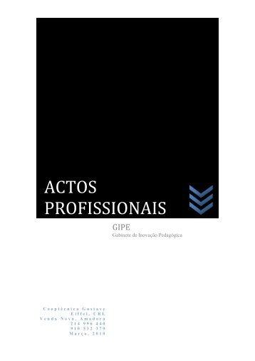 ACTOS PROFISSIONAIS