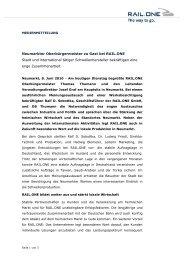 Neumarkter Oberbürgermeister zu Gast bei RAIL ... - RAIL.ONE GmbH