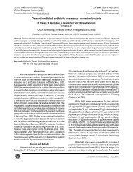 Plasmid mediated antibiotic resistance in marine bacteria