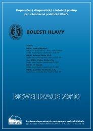 Bolesti Hlavy – Novelizace 2010 - Společnost všeobecného lékařství