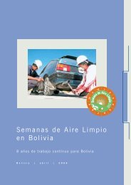 Semanas de Aire Limpio en Bolivia 2006 - swisscontact