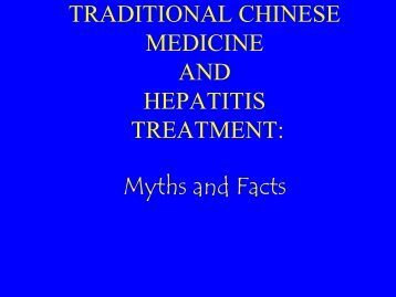 Myths and Facts About CAM, Victoria Blake, R.N. - Hepatitis B ...