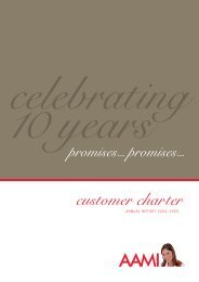 AAMI Customer Charter Annual Report 2004-2005