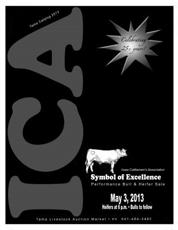 2012 ICA Tama Bull and Heifer Catalog - Iowa Cattlemen's ...