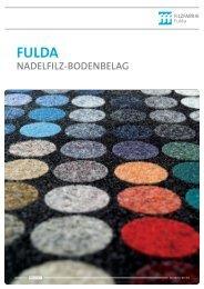 Broschüre Nadelfilz-Bodenbelag - Filzfabrik Fulda GmbH