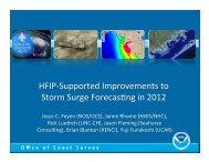 HFIP-‐Supported Improvements to Storm Surge Forecas9ng in 2012