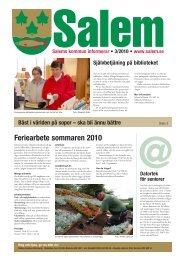 Feriearbete sommaren 2010 - Salems kommun