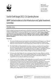 Scottish Draft Budget 2012-13 - WWF Scotland evidence ... - WWF UK