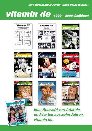 Die besten Artikel aus zehn Jahren vitamin de zum Download!