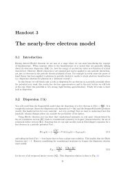 The nearly-free electron model - University of Oxford Department of ...