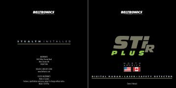 STiR Plus NA Owners Manual*.indd - Best Radar Detector