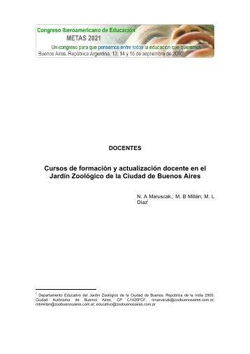 Cursos de formación y actualización docente en el Jardín Zoológico ...