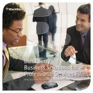 BlackBerry Business Solutions for Professional Services Firms