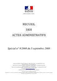 Recueil n°9 du 5 septembre 2008 - Préfecture de l'Yonne