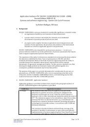 Application Guidance for: ISO/IEC 15288 (IEEE Std 15288 ‐2008 ...