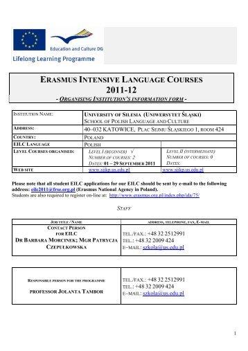 ERASMUS INTENSIVE LANGUAGE COURSES