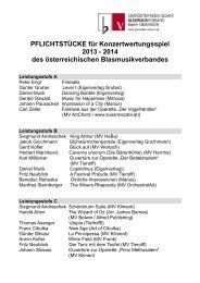 PFLICHTSTÜCKE 2013 - 2014 / Liste zum Herunterladen! - Gmunden