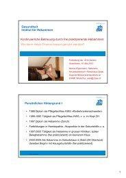 Gesundheit Institut für Hebammen Kontinuierliche Betreuung durch ...