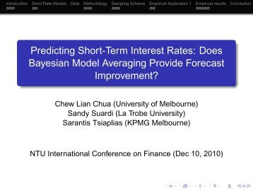 Predicting Short-Term Interest Rates: Does Bayesian Model ...