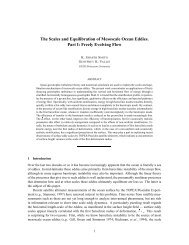 The Scales and Equilibration of Mesoscale Ocean Eddies. Part I ...