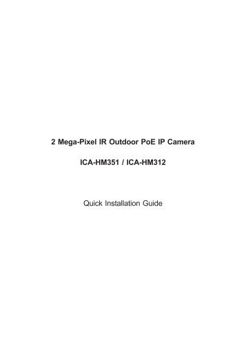 2 Mega-Pixel IR Outdoor PoE IP Camera ICA-HM351 / ICA ... - Planet