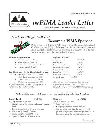 November - December 2002 - PIMA
