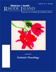 Geriatric Neurology - Rhode Island Medical Society