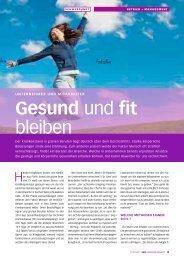 gesund und fit bleiben - HaraldKriegbaum.de